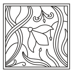 Traço quadrado de ornamento art nouveau