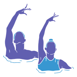 Artistic swimming duo front flat