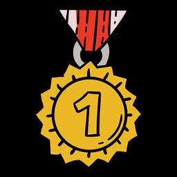 Premios primer círculo estrella colgante dibujado a mano