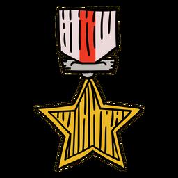 Premios primera estrella colgada dibujada a mano