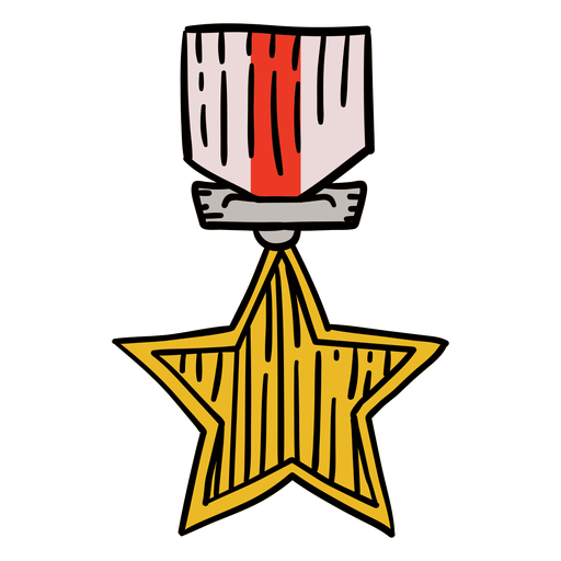 Awards first star hanging hand drawn
