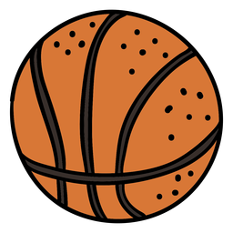 Ball basketball hand drawn