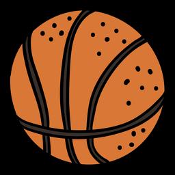 Bola de basquete desenhada à mão