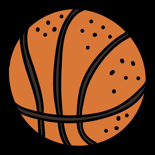 Dibujado a mano pelota de baloncesto