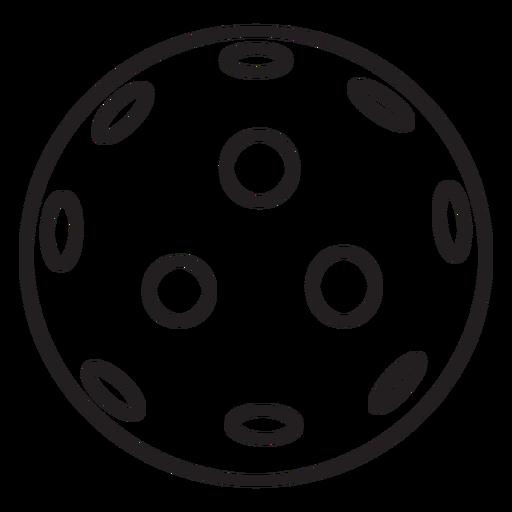 Ball pickleball stroke Transparent PNG