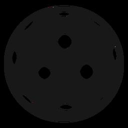 Ball pickleball black