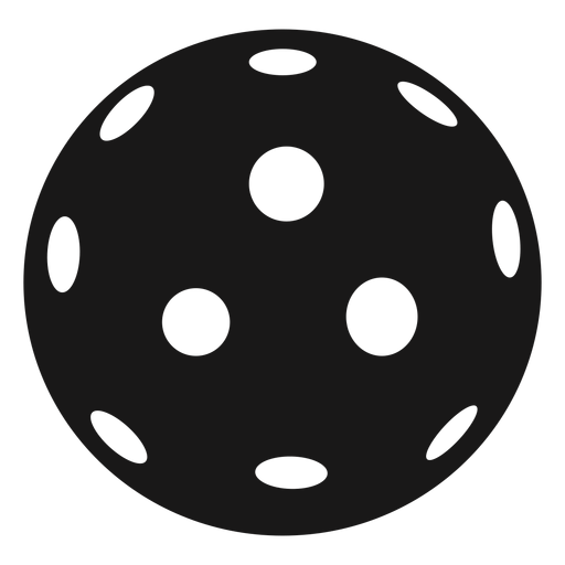 Ball pickleball black Transparent PNG