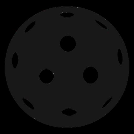 Bola pickleball negro Transparent PNG