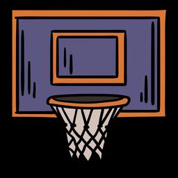 Cesta de baloncesto dibujada a mano
