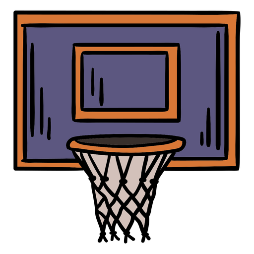 Basket basketball hand drawn