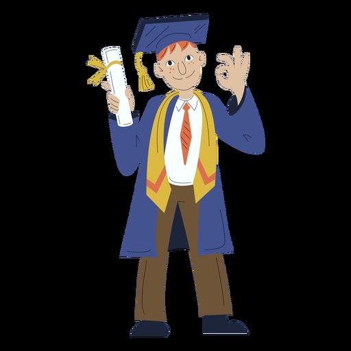 Boy graduation hand drawn