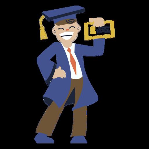 Niño posando graduación plana