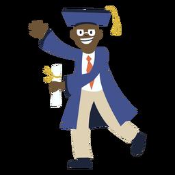 Boy wave graduation flat