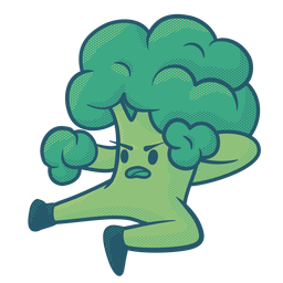 Broccolee fighter flat