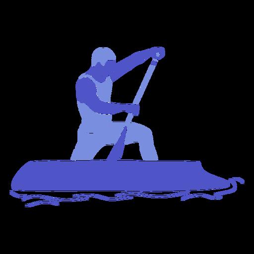 Canoeing man right flat