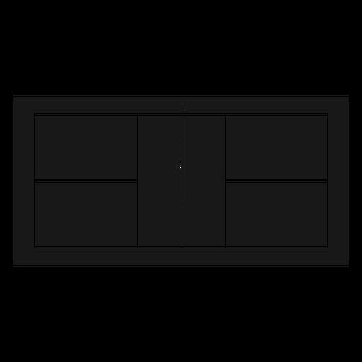 Court top pickleball black Transparent PNG