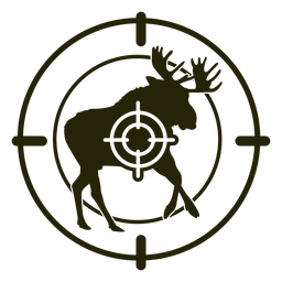Curso de corrida de tiro de veado