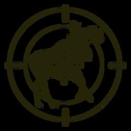 Deer shooting running stroke