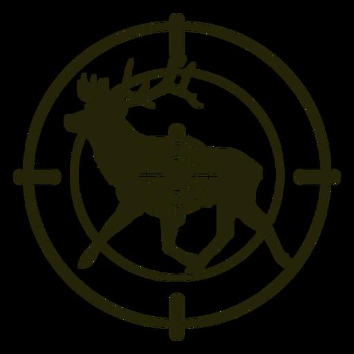 Deer shooting running left stroke