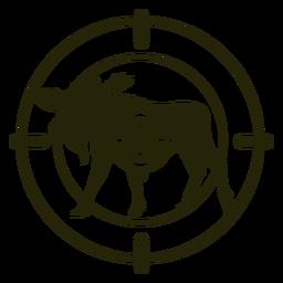 Hirsch schießt stehenden Elch Schlaganfall