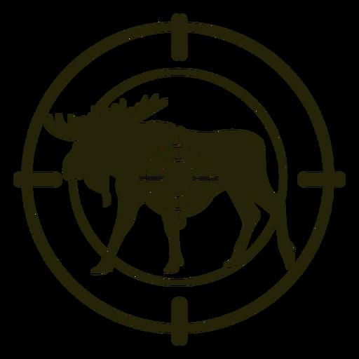 Deer shooting standing moose stroke