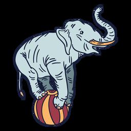 Dibujado a mano de circo elefante