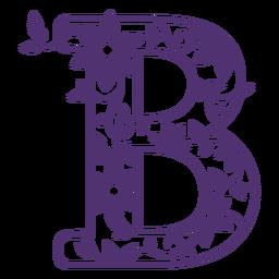 Letra do alfabeto floral b