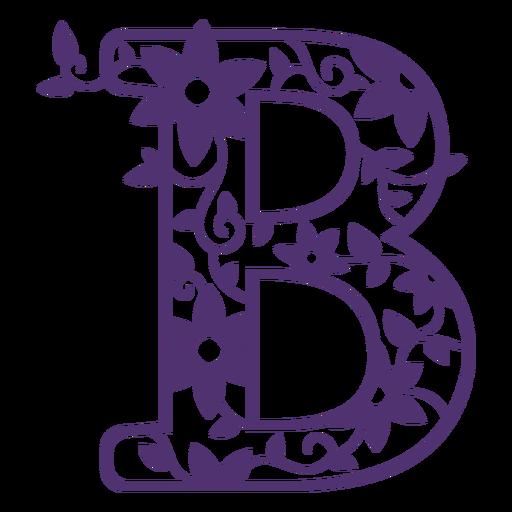 Alfabeto floral letra b Transparent PNG