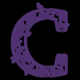 Floral alphabet letter c