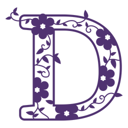 Letra do alfabeto floral d