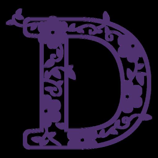 Alfabeto floral letra d Transparent PNG