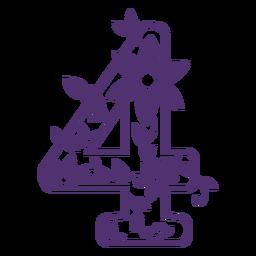 Alfabeto floral número cuatro
