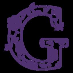 Floral alphabet letter g