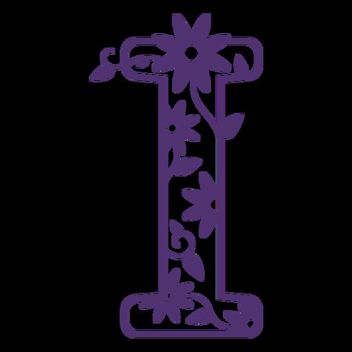 Alfabeto floral letra i