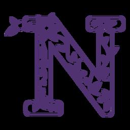 Alfabeto floral letra n