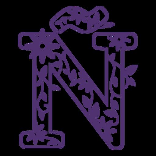 Letra del alfabeto floral Ã