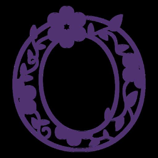 Floral alphabet letter o