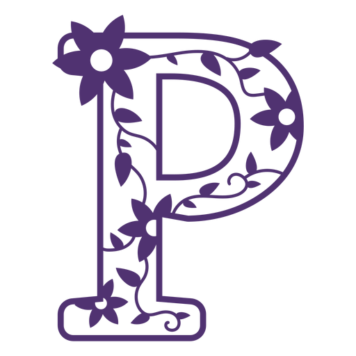 Alfabeto floral letra p