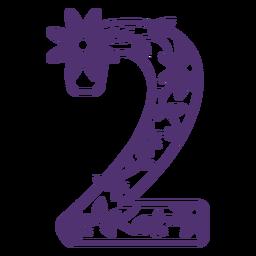 Floral alphabet number two