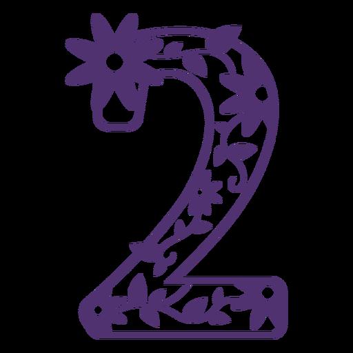 Alfabeto floral número dois