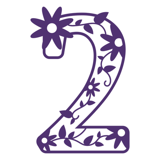 Alfabeto floral número dos