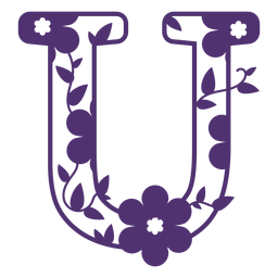 Alfabeto floral letra u