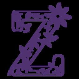 Alfabeto floral letra z