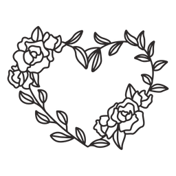 Curso de rosas de grinalda de flores