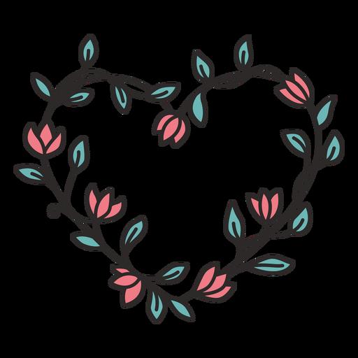 Flower wreath simple hand drawn