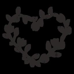 Curso simples de grinalda de flores