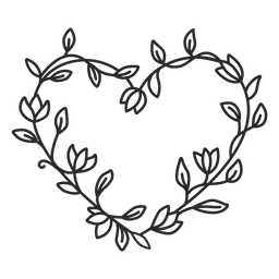 Guirnalda de flores simple trazo
