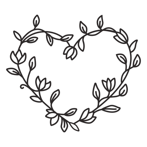 Flower wreath simple stroke Transparent PNG