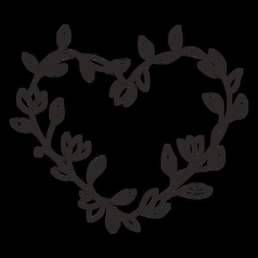 Flower wreath simple stroke