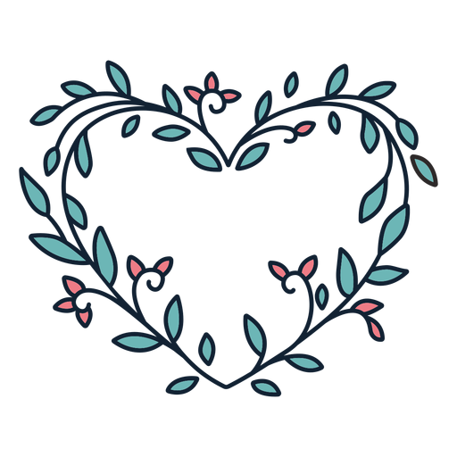 Flower wreath small leaves hand drawn